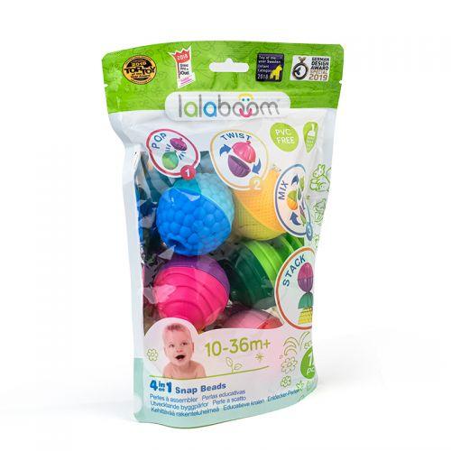 Lalaboom perlas educacionales, 12 unidades - Método Montessori