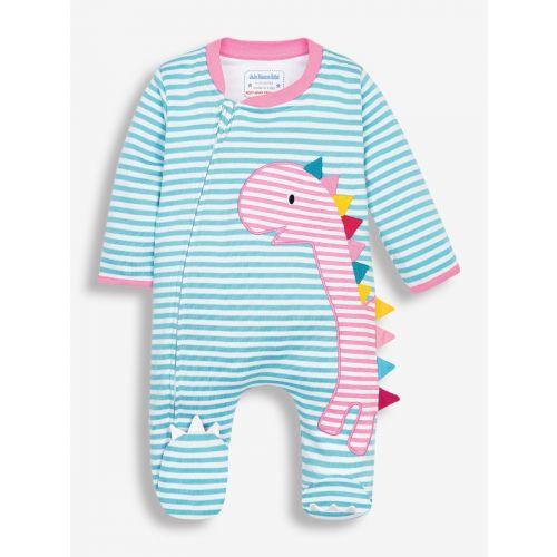 Pijama de Bebé Dinosaurios con cremallera , color huevo de pato