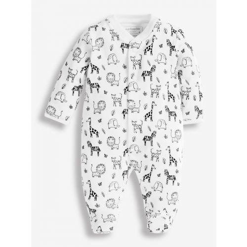Pijama para Bebés Blanco y Negro Safari