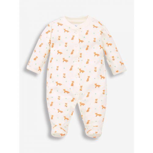 Pijama para Bebé color crema estampado Zorritos
