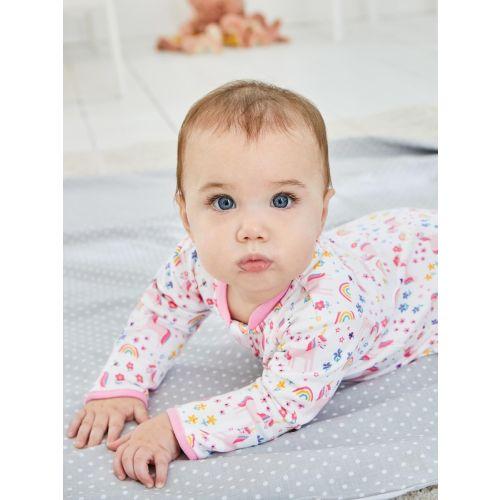 Pijama para Bebé con cremallera Dinosaurios Rosas