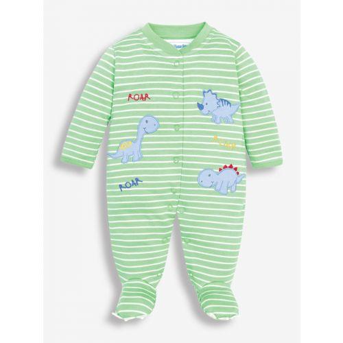 Pijama para Bebés verde Dinosaurios