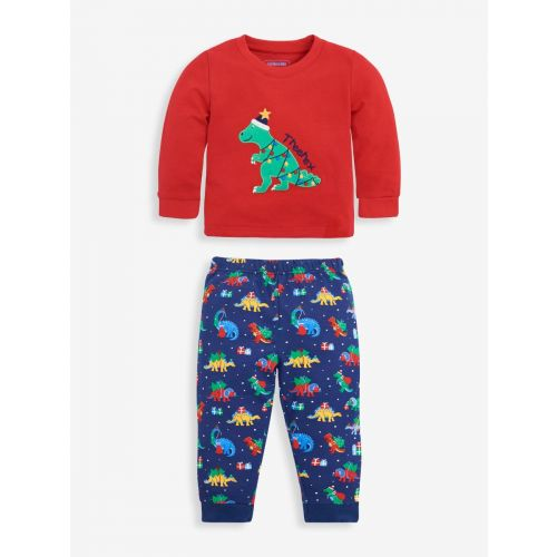 Pijama manga larga Dinosaurios Navideños - 6 meses hasta 6 años