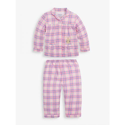 Pijama Niña clásico cuadros rosas Ratoncito