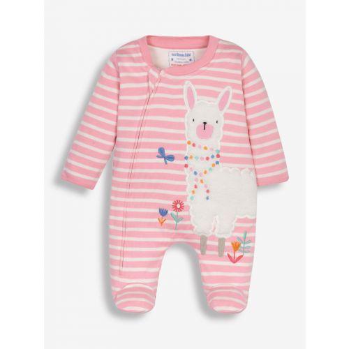 Pijama Bebé rosa con estampado Llama - Hasta 18 meses