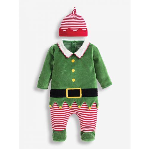 Pijama y gorro para Bebé Elfo