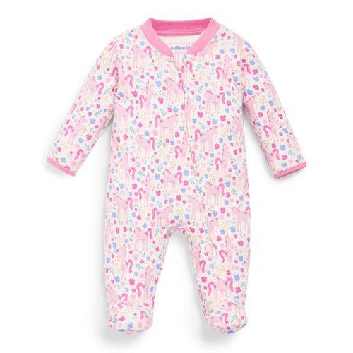 Pijama Bebé con Estampado Unicornios Cierre Cremallera