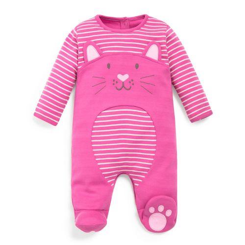 Pijama Bebé Gatito Rosa