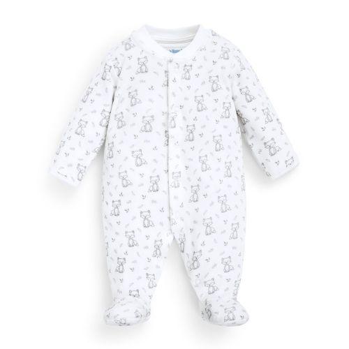 Pijama Blanco de Terciopelo Bebe Zorritos