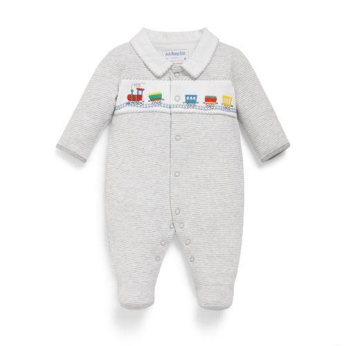 Pijama Gris para Bebe Estampado Tren