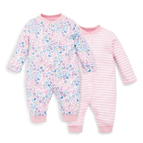 Pijama para Bebé Estampado Rosa sin Pies - 2 Unidades