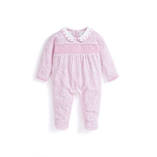 Pijama Rosa Bebé Fruncido