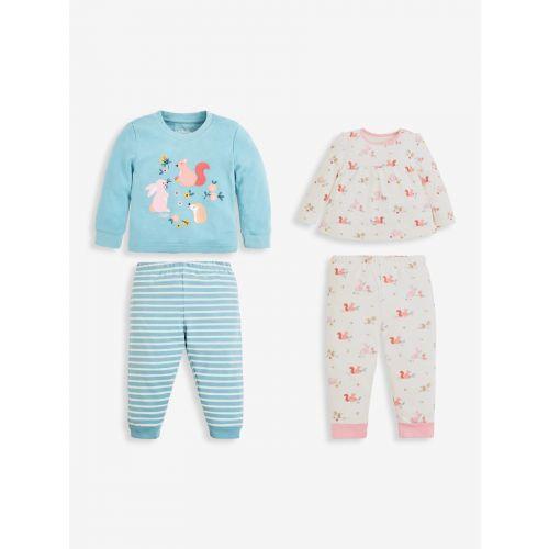 Set de 2 pijamas para Niña Conejitos - desde 6 meses hasta 6 años