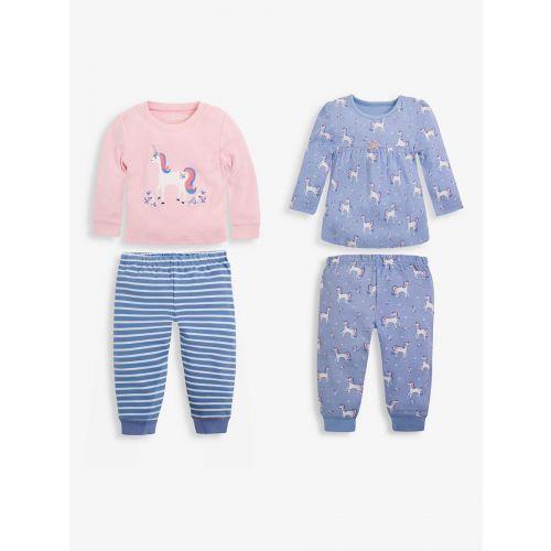 Pack de 2 pijamas de manga larga para Niña , Unicornios