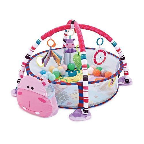Piscina de bolas Gimnasio de actividades para Bebé Hippo . Kikkaboo