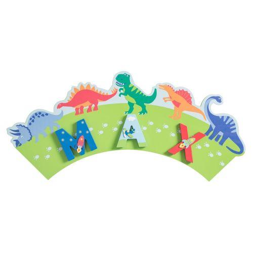 Placa Dinosaurios para Letras Infantiles Niño