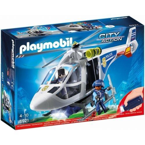 Playmobil Helicóptero de la Policía con Luces