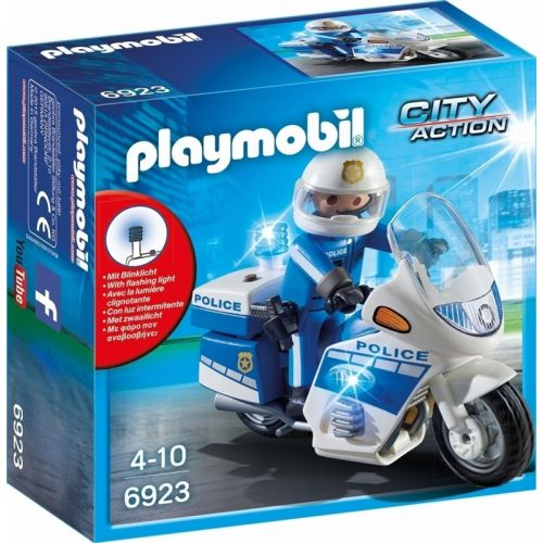 Playmobil Moto de Policía con Luces Led