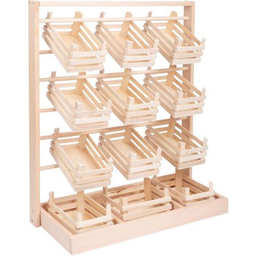 Puesto de venta , incluye 12 cajas de madera