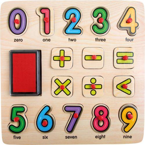 Puzzle con Sellos y Números