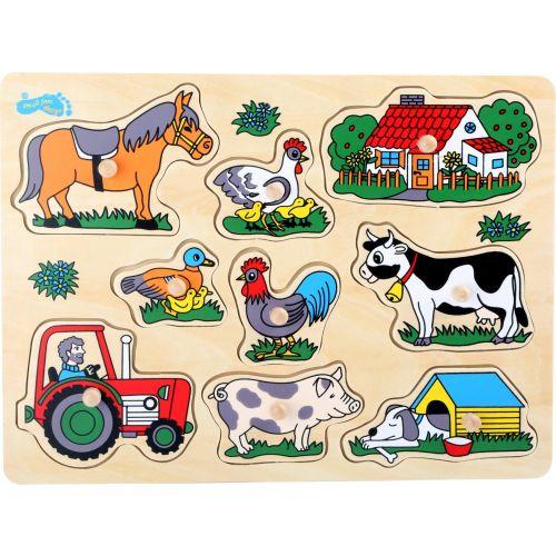 Puzzle de madera para Niños Agricultor - 12 meses y +