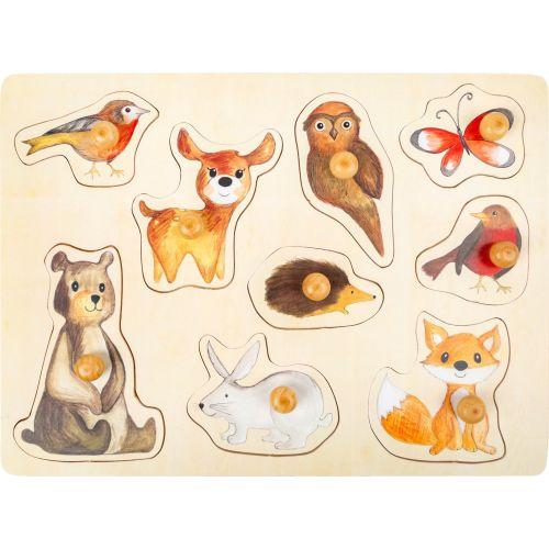 Puzzle de madera Animales del Bosque - 12 meses y +