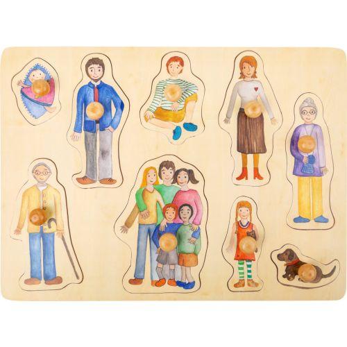 Puzzle de madera familia y amigos - 12 meses y +