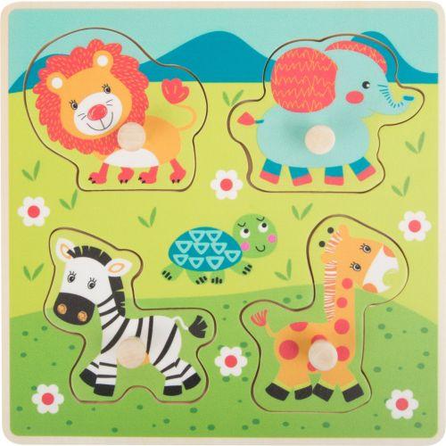 Puzzle de encaje Safari - 4 piezas