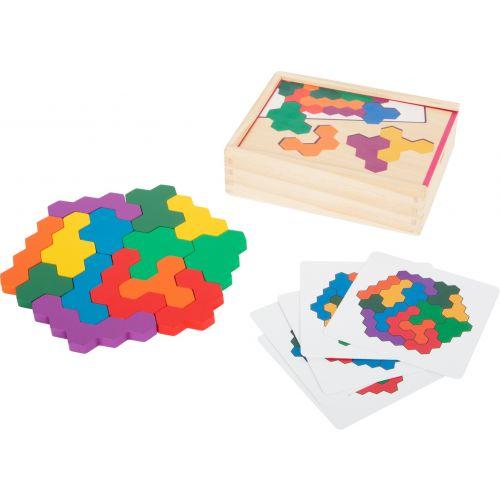 Puzzle educativo de madera Hexágono
