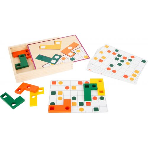 Puzzle educativo de madera Tetris