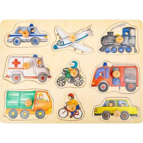 Puzzle vehículos de la ciudad - 12 meses y +