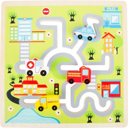Puzzle de Madera Desplazable Ciudad - +12 meses