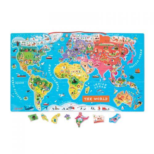 Puzzle Magnético Mapa del Mundo - Janod