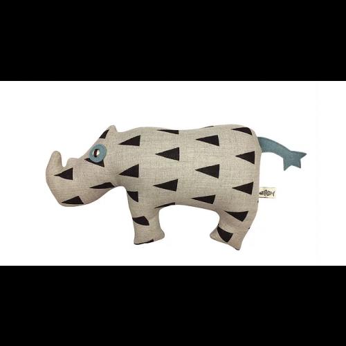 Rinoceronte Yash Carapau - Hecho a mano - 18 x 27 cm