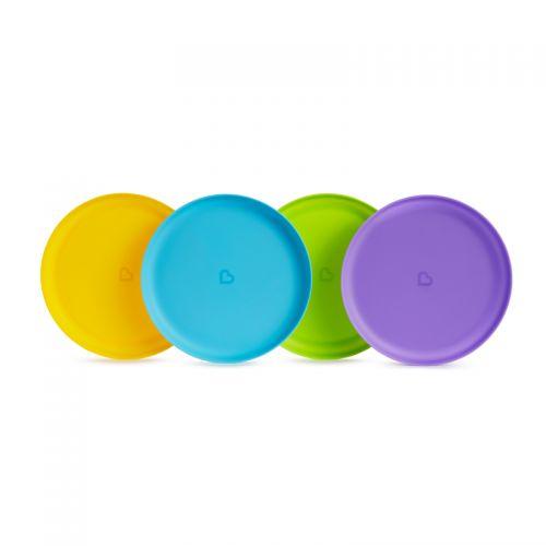 Pack de 4 platos para comida infantil