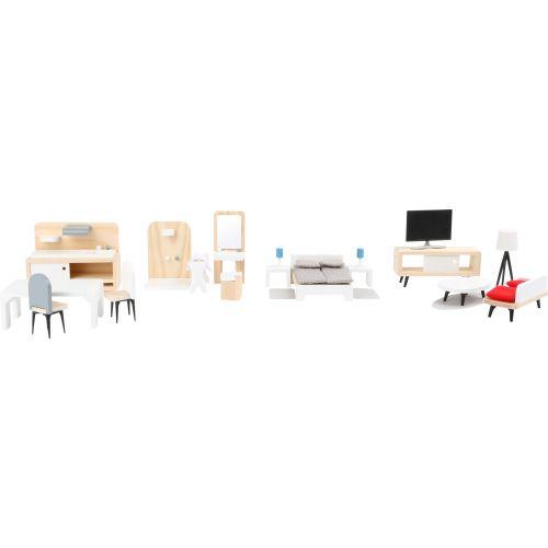 Set completo de muebles para la casa de muñecas