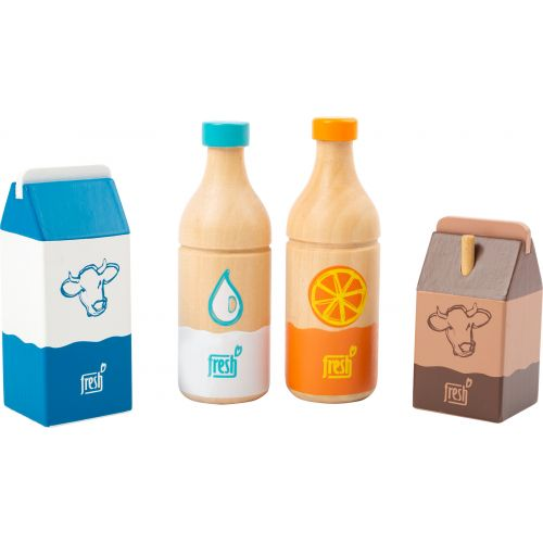 Set de bebidas fresh , juguete de madera, 4 piezas