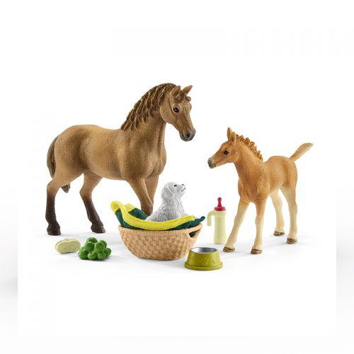Set de cuidado de crías de Horse Club Sarah , Schleich