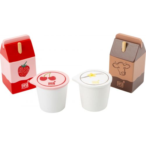 Set de productos lácteos fresh, juguete de madera