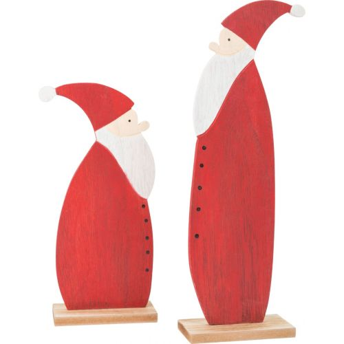 Papá Noel Decorativo de madera - 2 unidades
