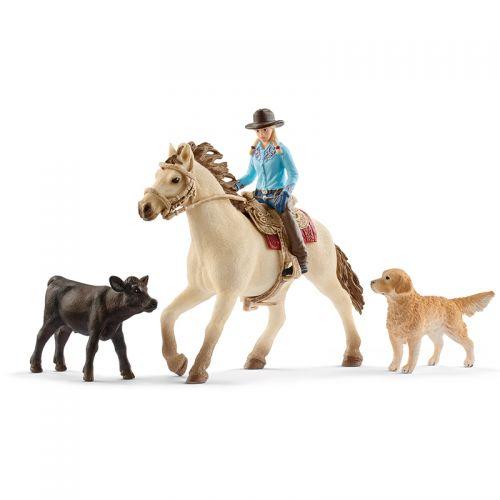 Schleich- Set de equitación del Lejano Oeste