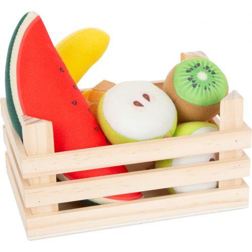 Set de frutas en tela con caja