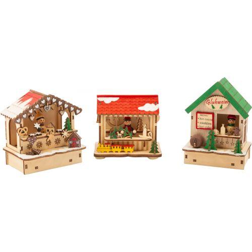 Set de lámparas, mercado de Navidad , Set de 3 unidades