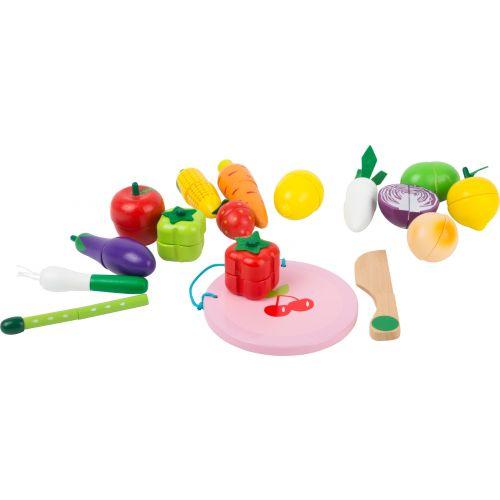 Set para cortar frutas y verduras , juguete de madera