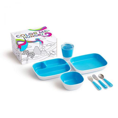 Set vajilla infantil Munchkin color azul