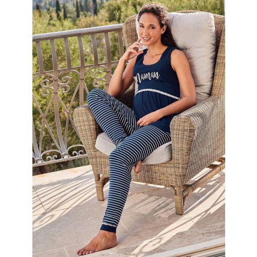 Set Pijama Premamá y Lactancia - Camiseta + Pantalon