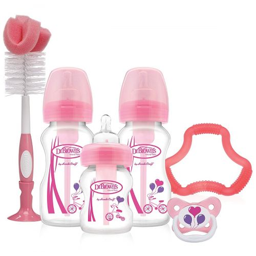 Set de Regalo Biberones Option Rosa/Azul de Dr Brown