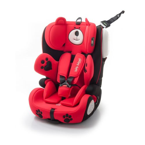 Silla de Coche Grupo 1/2/3 con Isofix Osito Rojo - Babyauto - Liquidación