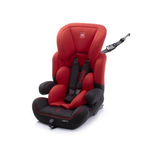 Silla de Coche Zarauz con Fix Grupo 1/2/3 Babyauto roja