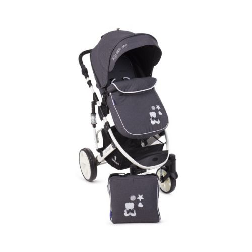 Cochecito de Bebé 2 en 1 Beloved - Kikkaboo dark grey